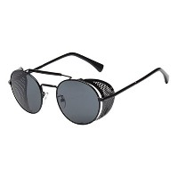 Zhhlaixing Classic Vintage Round Polarized Sunglasses with Glasses Case Personality ファッションサングラス for...
