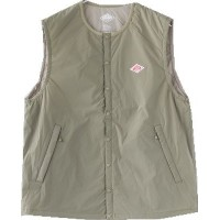 サイズ 42 43 LT.OLIVE [JD-8886SET] DANTON(ダントン) M's NYLON STRETCH TAFFETA INSULATION VEST(ナイロン...