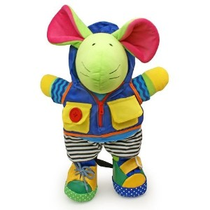 Squeak E. Mouse Learn to Dress Doll by Genius Baby Toys