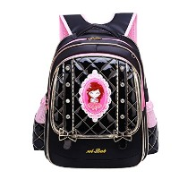 Zhhlaixing Fashion かわいい ランドセル 女の子 Schoolbag Girls Backpack 防水 軽量 Relaxed for School Travel 6-12...