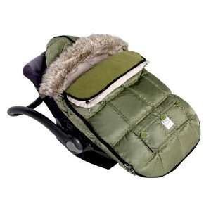 7AM Enfant Le Sac Igloo Footmuff, Converts into a Single Panel Stroller and Car Seat Cover, Army,...