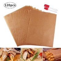 tomnk 120pcs Unbleached Parchment Paper Baking Cookieマット・ペーパー- 12x 16インチ