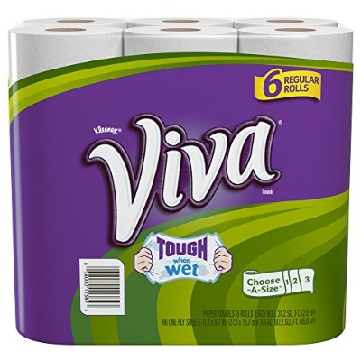 Viva Paper Towels, Choose-A-Size, Regular Roll, 6 Count by Viva