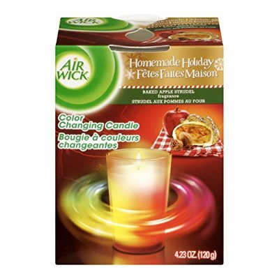 Air Wick Color-Changing Scented Candle, Apple Cinnamon Medley, 4.23 Ounce by Air Wick
