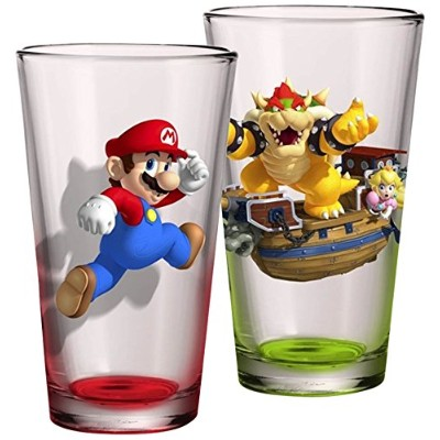 Justファンキーsm-gs2 – 10397-jfc Super Mario Pint Glass Set