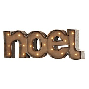 RAZ Holidayクリスマス25「NOEL Lighted Wood Sign