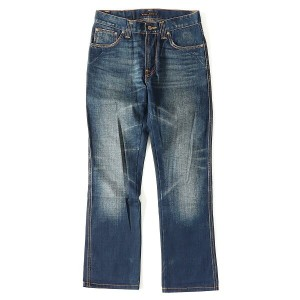 Nudie Jeans (ヌーディージーンズ) ウォッシュ加工スリムストレートデニムパンツ(SLIM JIM) インディゴ W29×L32 【美品】【K1846】【中古】【あす楽☆対応可】