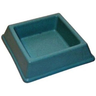 Cat Bamboo Food Bowl, Square, Blue by The Green Pet Shop
