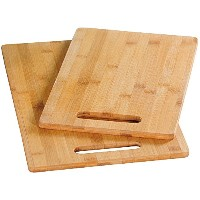 Kesper 88176肉Chopping Boards 2 Piece 30 cm x 20 cm x 1.04 CMの竹、ブラウン