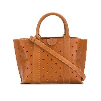 Il Bisonte perforated star handbag - ブラウン