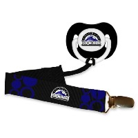 MLB Baseball Baby Infant Pacifier with Clip Set, Colorado Rockies by Baby Fanatic