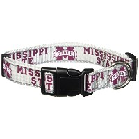 Pet Goods NCAA Mississippi State Bulldogs Dog Collar, Large by Pet Goods