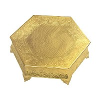 GiftBay Wedding Cake Stand Hexagonal Shape 18 (Approximate), Strongly Built of Aluminum for Multi...