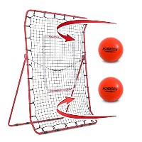 RukketピッチBack Baseball / Softball Rebounder Pro W / 2 Purepower Weightedボール|ピッチング練習を投げパートナー...