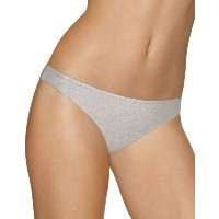 Barely There 21B5 Cotton Stretch Tailored Thong, Size 8 Heather Grey