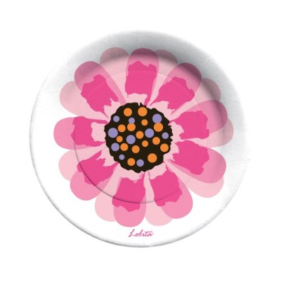 C・R・ギブソンロリータ8-inch Paper Dessert Plates、ooops-a-daisy、8カウント