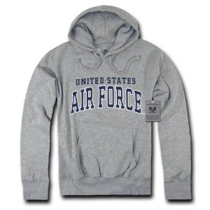 Rapid Dominance S46-AIR-HGR-02 Pullover Hoodies, Air Force, Heather Grey, Medium