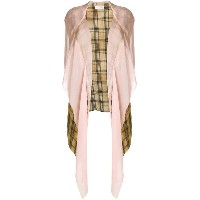Faith Connexion draped plaid hooded jacket - グリーン