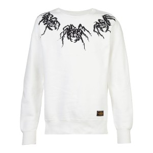 Neighborhood spider print sweatshirt - ホワイト