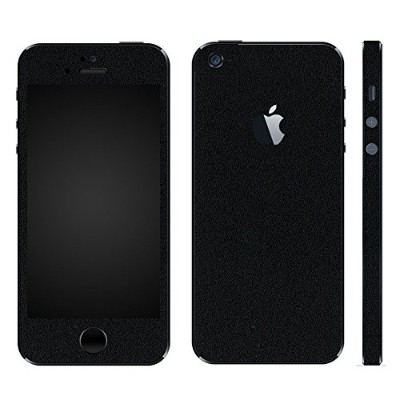 wraplus for iPhoneSE & iPhone5S/5 [ブラック] スキンシール + 液晶保護フィルム