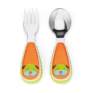 Skip Hop Children's Cutlery Set Fork and Spoon Dog