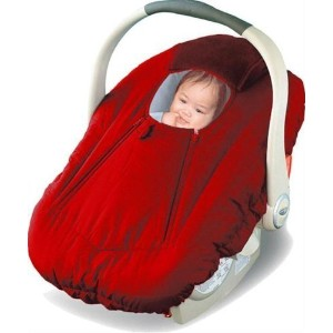 Jolly Jumper Arctic Sneak A Peek Infant Car Seat Cover Red by Jolly Jumper
