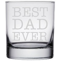 shop4ever Best Dad Everレーザー永久に刻印Rock Glassesギフト~父の日~ ( 101/ 4オンス、クリア) クリア