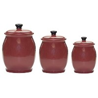 American Atelier 4piece Canister set-blue Store sugar, flour, cookies, and more 1427922JF