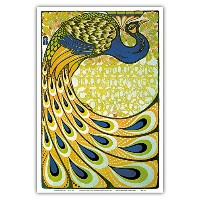 Art Nouveau Bookカバーデザイン; Peacock Edition by Macmillan and Co。;ヴィンテージ、アールデコ; Les Maitres de l ...