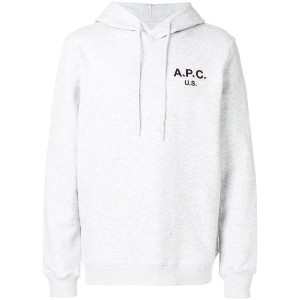 A.P.C. front logo hoodie - グレー