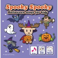 Maple Leaf Publishing Spooky Spooky Halloween Songs for Kids エンハンスト CD