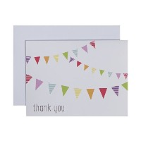 C.R. Gibson Boxed Thank You Notes, Fun and Festive, 10 Count by C.R. Gibson