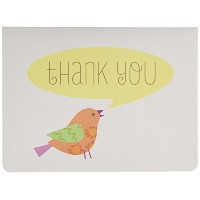 C.R. Gibson Boxed Thank You Notes, Lil' Birdie, 10 Count by C.R. Gibson