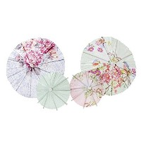 Talking Tables Truly Romantic Floral Drinks Parasols 2サイズで4のためのデザイン誕生日またはTea Party 14212602