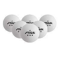 High Quality 3-Star Table Tennis Balls, 6-Pack