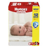 Huggies Snug & Dry Diapers, Size 1, 276 Count (One Month Supply) by Huggies