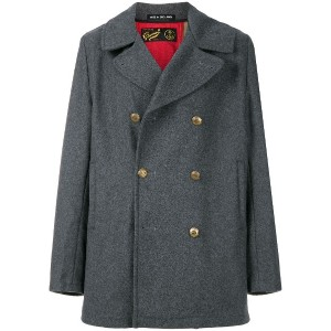 Gloverall double breasted coat - グレー