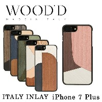 ウッド Wood'd iPhone8Plus iPhone7Plus iPhone6Plus ケース Real wood Snap-on covers ITALY INLAY 【 アイフォン...