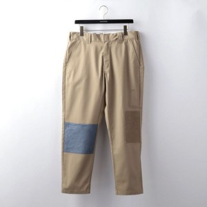 【GUILD PRIME ギルドプライム】 【FDMTL】MENS DICKIES PATCHWORK CROPPED PANTS FA18/PN11D ベージュ メンズ