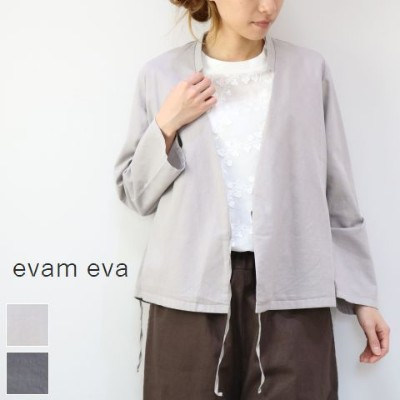 evam eva(エヴァムエヴァ) cotton silk cache coeur CD 2colormade in japane181t103【ev】