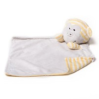 Bella Tunno Wish Monkey Lullaby Poetic Plush Lovey Blanket, Yellow, Mini by Bella Tunno