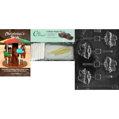 "Cybrtrayd "" Bee Lolly ""動物チョコレート型Chocolatierのバンドル、Includes 25 Lollipopスティック、25 Cello Bags and..."