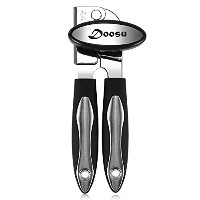 Can Opener手動、u-taste GoodグリップCan Opener with Extra鋭いブレード、頑丈ステンレススチールCan Opener