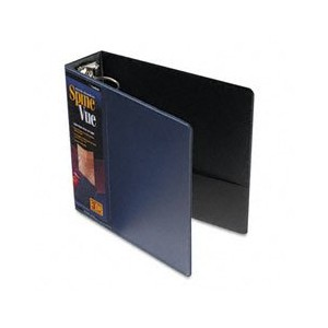 "SpineVue Round Ring View Binder, 3"" Capacity, Navy (並行輸入品)"