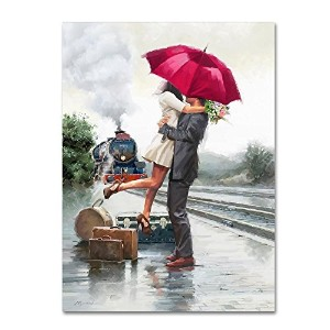 Couple on Train Station by The Macneil Studio、14x 19インチキャンバス壁アート