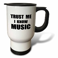 InspirationzStore Trust meシリーズ–Trust Me I Know音楽–Fun Musician and Musicalファンユーモア–面白い–旅行マグ...