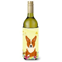 Caroline 's Treasures bb6100literk Easter Eggs Corgiワインボトル飲料Insulator Hugger、750 ml、マルチカラー