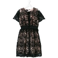 Marco Bologna Kids floral lace patterned dress - ブラック