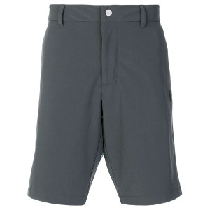 Ea7 Emporio Armani logo patch fitted shorts - グレー