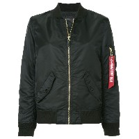 Alpha Industries zipped bomber jacket - ブラック